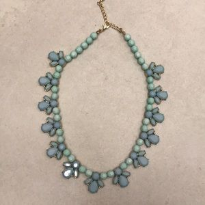 Forever 21 blue and gold tone necklace
